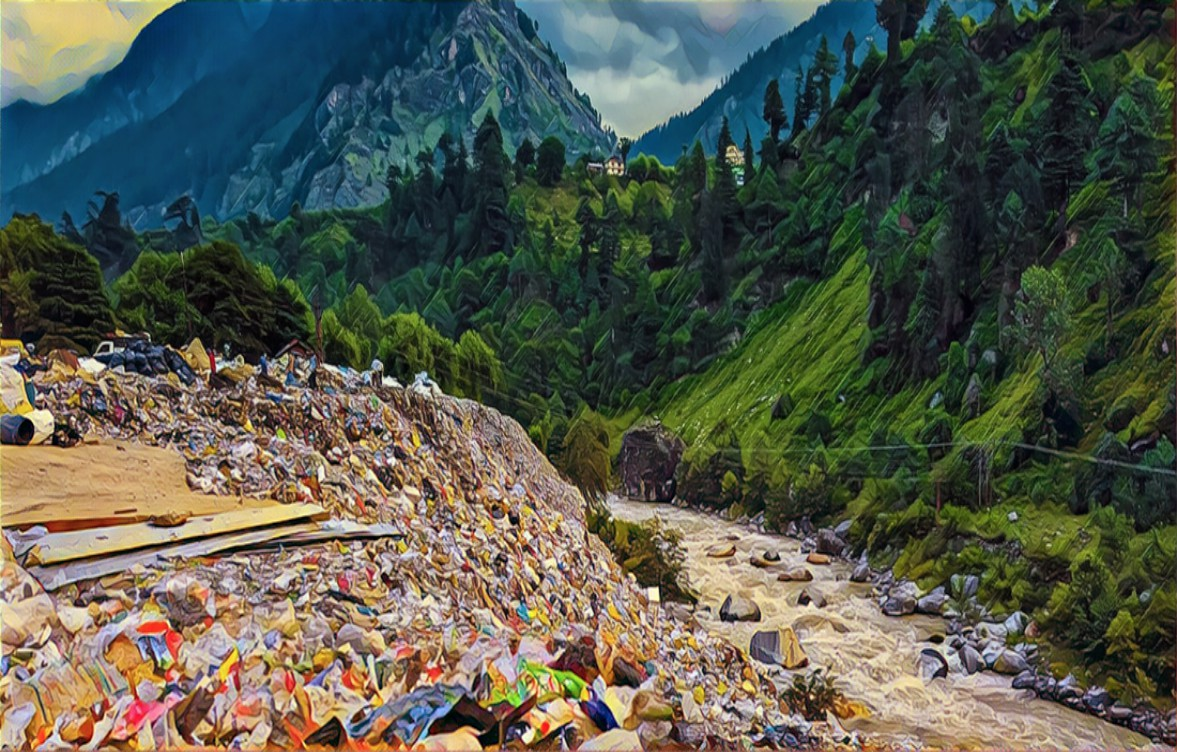 Garbage in Manali